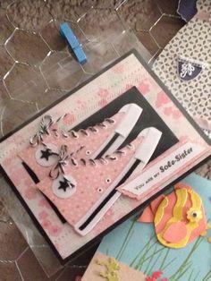Love the tennis shoe die Sharon's design