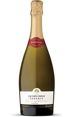 Jacobs Creek Reserve Chardonnay Pinot Noir 2017 South Eastern Australia - 6 Bottles Pinot Noir, Fresh Oysters, Different Wines, Ripe Fruit, In Vino Veritas, Sparkling Wine, Label Design, Wine Glass, Champagne