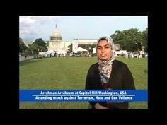 American Muslim March against Terrorism, Hate and Gun Violence The Team of Arrahman Arraheem Network participated in American Muslim March at Washington DC w. Capitol Hill Washington, Quran, Muslim, Hate, March, Events, American, Youtube, Youtubers