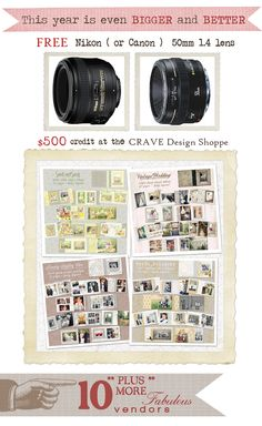 CraveMyPhotography 2day all expense paid one on one workshop - the giveaways like OMGOSH.