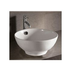 Found it at Wayfair - Isabella Round Bathroom Sink with Overflow and Center Drain