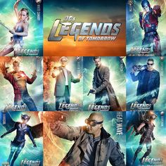 9 Brand NEW !!! Character Posters from Legends of Tomorrow.