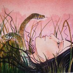 Medusa #art #drawing #mithology #medusa #snake