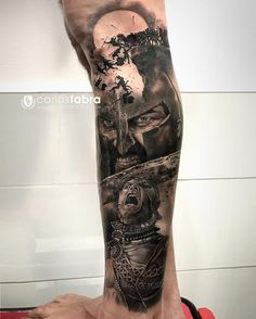 Realistic Tattoo by Carlos Fabra