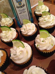 Sugar Rushed: Gin and Tonic Cupcakes. #recipe