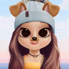 Danna Kawaii Girl Drawings, Cute Cartoon Drawings, Cute Girl Drawing, Girly Drawings, Cartoon Girl Drawing, Cute Animal Drawings Kawaii, Cartoon Art, Cute Girl Wallpaper, Cute Disney Wallpaper
