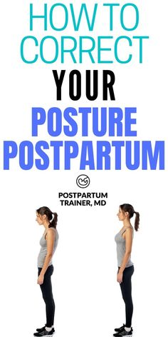 Learn how to improve your posture postpartum with these simple exercises you could perform in the comfort of your home. Fix Your Posture, Bad Posture, Health And Wellness, Health Fitness, Pregnancy Health, Easy Workouts, Healthy Tips, Improve Yourself, Trainers