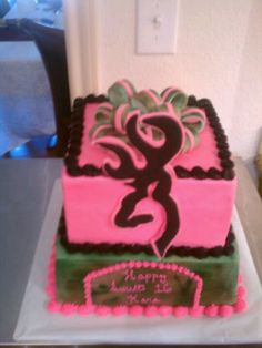 How awesome is this A Girls with Gunsinspired birthday cake for