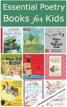 A list of 9 poetry books kids will love - Great list for National Poetry Month (April!)