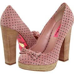 Aren't these precious?  I have discovered a love for Betsey Johnson.  Heaven help me.