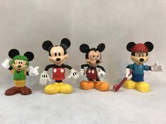Lot Of 4 Disney Mickey Mouse Figures Toys Collectible in Toys & Hobbies, TV, Movie & Character Toys, Disney, Mickey   eBay