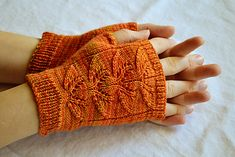 Ravelry: Foliage Mitts pattern by Meg Hollar @Wendy Felts Christopher - in case you're bored!