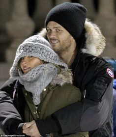 PDA pair:It was the first sighting in months of the New England Patriots quarterback and the sixth-generation Brazilian bombshell together