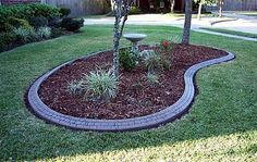 landscaping with rocks and stones | Florida Photo Gallery - Landscape Borders - Florida Concrete