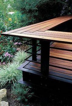 deck railing seating ideas | 42,160 backyard deck railing Home Design Photos