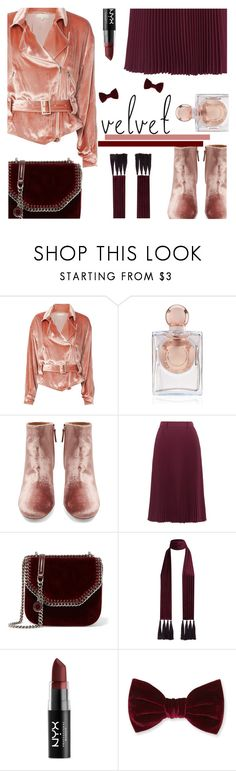 """Crushing on Velvet"" by rasa-j ❤ liked on Polyvore featuring Fleur du Mal, La Perla, Aquazzura, Prada, STELLA McCARTNEY, NYX, Forever 21, velvet and womensFashion"