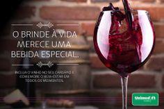 Comemorando a qualidade de vida!  Conheça os benefícios do vinho à saúde e inclua a bebida no dia a dia: http://unimed.me/IfL6kM