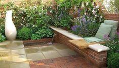 beautiful garden design in the small garden - Alles über den Garten Back Gardens, Small Gardens, Outdoor Gardens, Outdoor Sheds, Amazing Gardens, Beautiful Gardens, Ideas Terraza, Garden Trellis, Terrace Garden