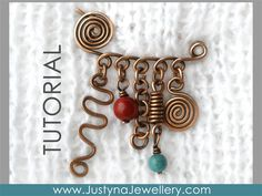 Wire Wrapping Shawl Pin Tutorial Spiral Pin by JustynaJewellery