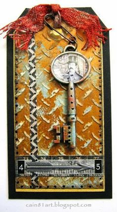 FRIENDS in ART: Eroded Metal Tag from Creative Chemistry 102 with Tim - 2 posts in one day!