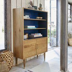 Bibliothèque peinte vintage FIFTIES en bois de mindy Solid Wood Furniture, Upcycled Furniture, New Furniture, Furniture Makeover, Vintage Furniture, Painted Furniture, Furniture Design, Decor Interior Design, Interior Decorating