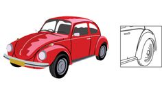 VW Beetle Vector Ima