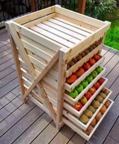 Pallet Pantry Drawers. #pallets