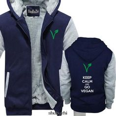 Keep calm and go vegan, Hoodie/Jacket
