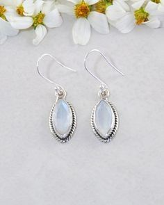 c81d27736 Ananda Sterling Silver Earrings - Moonstone | Sivalya Fine Jewelry  Moonstone Earrings, Sterling Silver Earrings