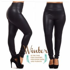 """💥HP 4/4, 9/9💥SOFT AS BUTTAH FAUX LEATHER PANTS! These high waisted faux leather pants are beautiful and perfect for the season! 92% polyester and 8% spandex, very stretchy. Made in USA🇺🇸NWOT. 1X: waist 28-35"""" hips 42-52""""♦️2X: waist 31-38"""" hips 44-54""""♦️3X: waist 35-40"""" hips 46-56"""" BURGUNDY BACK ORDERED! tla2 Pants Skinny"""