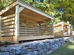 custom firewood shed