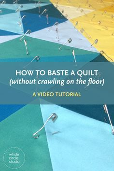 pin basting made easier (a video tutorial) 2019 Quilt Basting Video Tutorial Quilting For Beginners, Quilting Tips, Quilting Tutorials, Quilting Projects, Sewing Projects, Crazy Quilt Tutorials, Easy Hand Quilting, Hand Quilting Patterns, Beginner Quilt Patterns