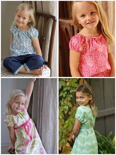 Matilda Gypsy Dress and Top PDF Pattern in sizes 6mth por Townmouse