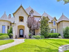Home of the Week: An Enchanting Castle in Colleyville | This beautiful, gated, custom-designed mansion home in Colleyville is nestled on a large cul-de-sac lot in a preferred high-end street of local celebrities! | 4901 Rockrimmon Court #mansion #beautiful #luxury