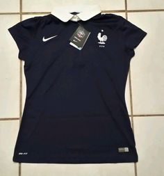 NWT NIKE France National Team 2014 Soccer Jersey Women's Large  #Nike #France