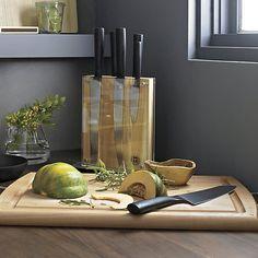 Schmidt Brothers ® 7-Piece Carbon6 Knife Block Set | Crate and Barrel
