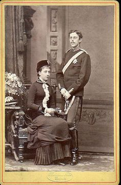 Crown Prince Gustaf Adolf of Sweden with Viktoria of Baden