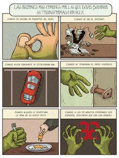 Viñeta del dibujante Alberto Montt. Y tú, ¿cuándo te transformas en Hulk?