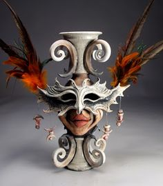 Mitchell Grafton - Face Jugs and Ceramic Art - Pêssega D'Oro Porcelain Ceramics, Ceramic Pottery, Pottery Art, Pottery Ideas, Painted Porcelain, Fine Porcelain, Porcelain Tiles, Face Jugs, Cement Art