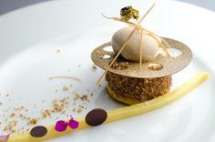 Mango Noisette, Caramel-Hazelnut Ice Cream, Hazelnut Panna Cotta, Passion-Mango…