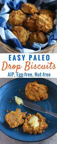 Easy Paleo Drop Biscuits (AIP) - these allergy-friendly biscuits are so easy to make and incredibly delicious, thanks to a surprise ingredient! | fedandfulfilled.com