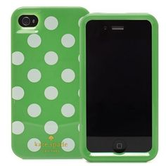 kate_spade_case_for_iphone_4_4s_polka_dots_green kate spade design should be showing up any day!