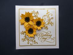 Wedding card made using Florartistry flower, Crafters Companion flourish and Tonic Studios sentiment dies