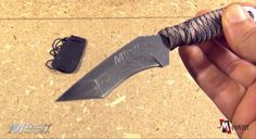 MtechUSA Tactical Full Tang Neck Knife with Kydex Sheath MT-671