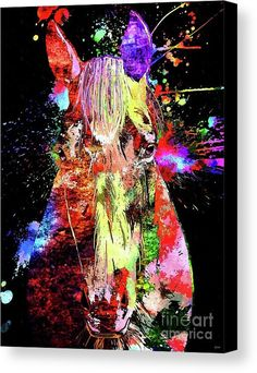 Horse Grunge Canvas Print featuring the mixed media Horse Grunge by Daniel Janda