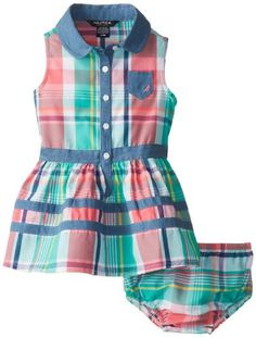 Nautica Baby-Girls Infant Plaid Chambray Detail Dress, Light Teal, 24 Months Nautica,http://www.amazon.com/dp/B00HHTDIUG/ref=cm_sw_r_pi_dp_HQ4ytb0SJ0Z62HYW