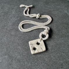 White geometric necklace / unique ceramic necklace / Geometric ceramic pendant / modern necklace / Ceramic jewelry / geometric jewelry http://etsy.me/2yoyarn