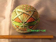 てまり「フラワーバスケット」オレンジ 手まり 手毬 手鞠