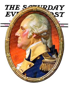Portrait of George Washington in oval frame