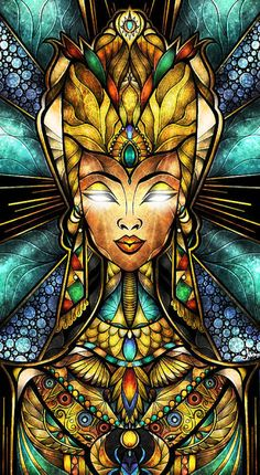 Nefertiti Stained Glass Cross Stitch Pattern Counted Cross Stitch Chart, Pdf Format, Instant Download /148275 by icrossstitchpattern on Etsy